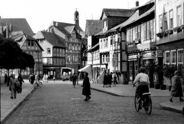 Untere Marktstraße im Zustand des Jahres 1664 - Dieter Oemler