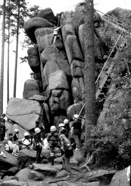 Kletterübungen am Ottofelsen - Dieter Oemler