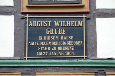 Geburtshaus August Wilhelm Grubes in Wernigerode - gemeinfrei