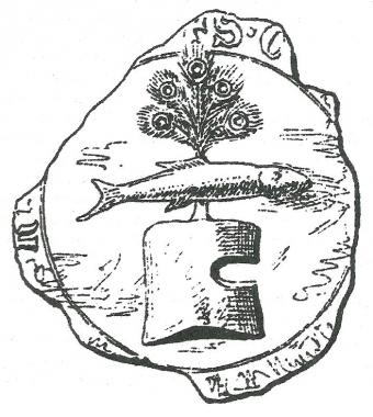 Ältestes Siegel des Grafen Friedrich (II) von Wernigerode aus dem Jahre 1328 - Jan Habermann