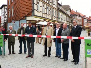 Abschluss der Sanierung der Westernstraße - Übergabe durch den Oberbürgermeister Peter Gaffert - Stadtverwaltung Wernigerode