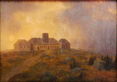 Gasthaus auf der Brockenspitze 1833, Maler unbekannt - Harzmuseum Wernigerode