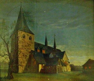 Johanniskirche Mitte 19.Jh., Maler unbekannt - Harzmuseum Wernigerode