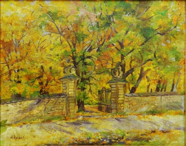 """Das """"Löwentor"""" - Eingang zum Lustgarten, Anni Reinecke 1880-1967 - Harzmuseum Wernigerode"""