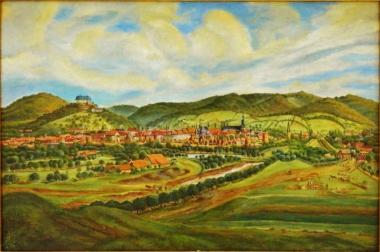 Ausgebranntes Häuserviertel nach dem Stadtbrand 1847, Ernst Helbig 1802-1866 - Harzmuseum Wernigerode