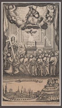 Zweiteiliger Stich aus dem Jahre 1782 von J. D. Philipp, geb. Sysang - Harzmuseum Wernigerode
