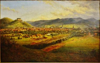 Alte Ansicht auf Wernigerode in Richtung Süden 1848 - Harzmuseum Wernigerode