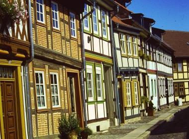 Historische Fachwerkhäuser im Heideviertel © Wolfgang Grothe