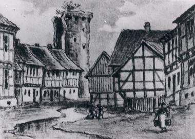 Ehemaliger Findeisenturm auf der Heide (1850) - Harzbücherei Wernigerode
