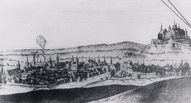 Aus dem Jahr 1639 stammt die älteste Gesamtansicht von Wernigerode. - Harzbücherei Wernigerode