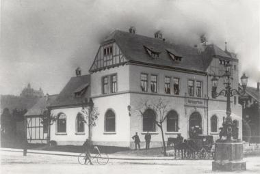 Ehemaliger Hauptbahnhof der Nordhausen-Wernigeröder-Eisenbahn (NWE) in Wernigerode - Harzbücherei Wernigerode