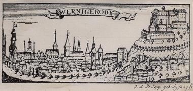 Blick vom Lindenberg zum Schloss - Harzbücherei Wernigerode