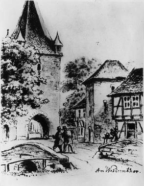 """Am """"Westernthor"""" 1865 - Harzbücherei Wernigerode"""