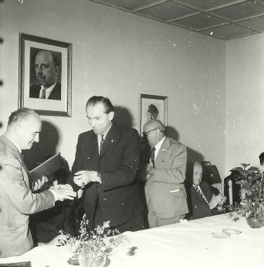 Unterzeichnung des Partnerschaftsvertrages mit Carpi - Stadtarchiv Wernigerode (Archiv Dieter Möbius)