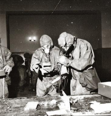 Übung der Zivilverteidigung 1970 - Stadtarchiv Wernigerode (Archiv Dieter Möbius)