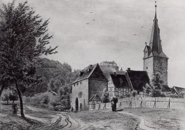 Rimbecker oder Neustädter Tor um 1830 - Dieter Oemler