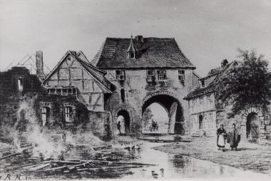 Ehemaliges Rimkertor von Innen, 8. Februar 1833 - Harzbücherei Wernigerode