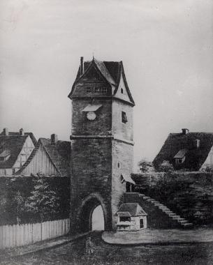Ehemaliges Burgtor von innen vor 1820 - Harzbücherei Wernigerode