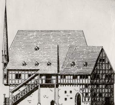 Bau der Ratswaage 1494 - Harzbücherei Wernigerode