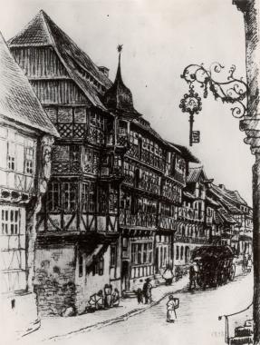"""""""Hotel zum Bären"""" Breite Straße 78 vor 1836 - Harzbücherei Wernigerode"""
