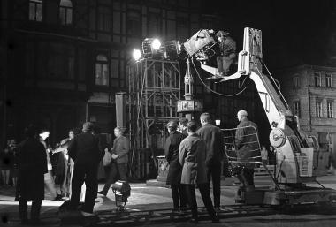 Fernsehaufnahmen 1964 auf dem Marktplatz - Dieter Oemler
