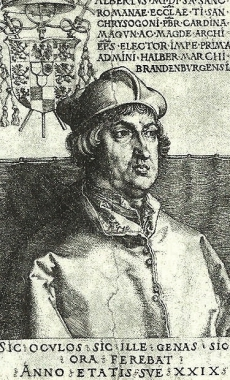 Kardinal Albrecht von Brandenburg (1490-1545) - unbekannt
