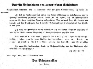 Aufruf des Bürgermeisters - Stadtarchiv Wernigerode