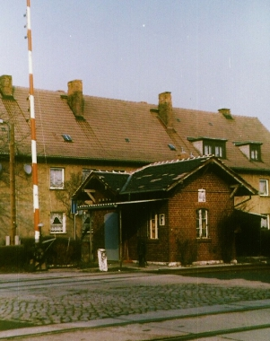 ehemaliger Bahnübergang am Veckenstedter Weg 1993 - Horst Duve