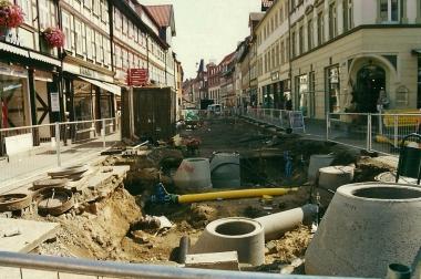"""Straßenbauarbeiten in der """"Breiten Straße"""" 2001 - Horst Duve"""