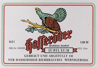 Bockbier aus dem VEB Hasseröder Bierbrauerei - Hasseröder Brauerei
