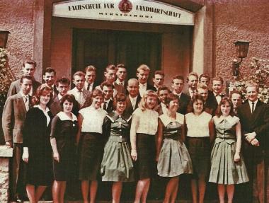 Absolventen der Fachschule für Landwirtschaft Wernigerode - Archiv Manfred Fuhlroth