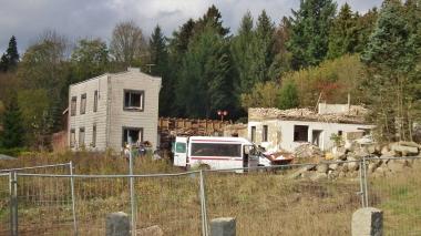 Abriss alter Bauten in Schierke 2015 © Wolfgang Grothe