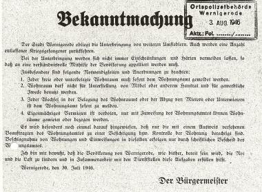 Bekanntmachung des Bürgermeisters - Stadtarchiv Wernigerode
