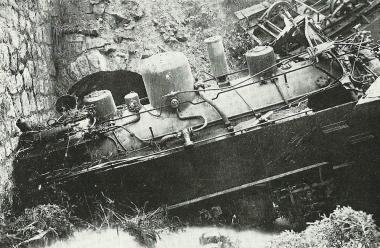 Lok des Unglückszuges 6. Juli 1927 - privat