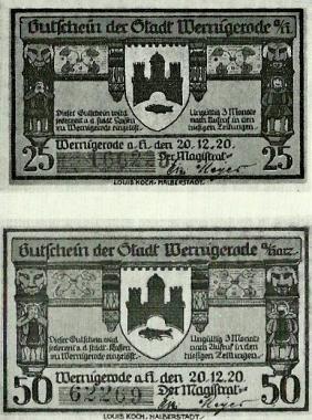 Wernigeröder Notgeld von 1920 © Wolfgang Grothe