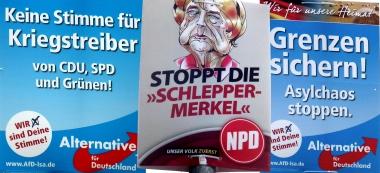 Ausländerfeindliche und rechtspopulistische Parteien nutzen die Ängste und Sorgen der BürgerInnen für ihre politischenZiele © Wolfgang Grothe