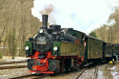 Mallet-Lokomotive der Harzer Schmalspurbahnen - Wassen