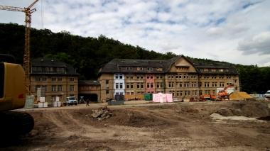 """Baustelle des ehemaligen Industriegeländes """"Argenta"""" © Wolfgang Grothe"""