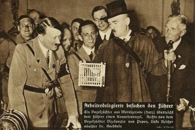 Arbeiterdelegierte besuchen den Führer - Photothek Harzbücherei Wernigerode