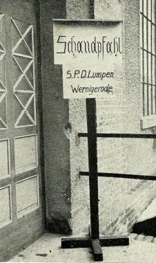 Schandpfahl - Phototkek Harzbüchere Wernigerodei