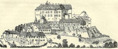 Ansicht des Schlosses von 1750 © Wolfgang Grothe