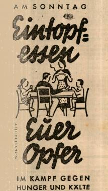 Werbung für das Winterhilfswerk - repro Wolfgang Grothe