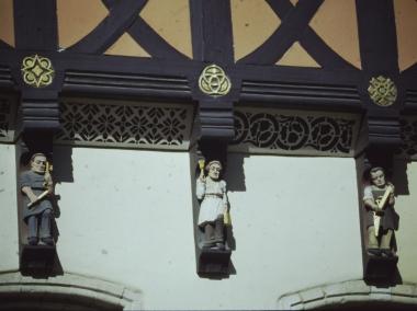 Knaggenfiguren am Rathaus © Wolfgang Grothe