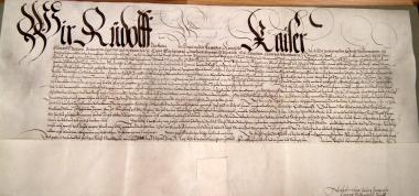 Original-Urkunde des Kaisers Rudolf - Stadtarchiv Wernigerode