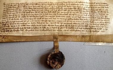 Urkunde des Grafen Cord von Wernigerode vom 29.09.1386 - Stadtarchiv Wernigerode