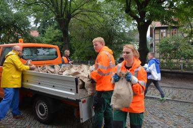 Kampf gegen das Hochwasser in Wernigerode - Ivonne Sielaff