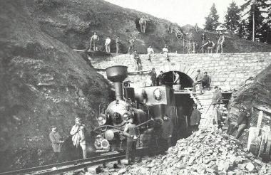Bau des Tunnels im Drängetal - Dieter Oemler