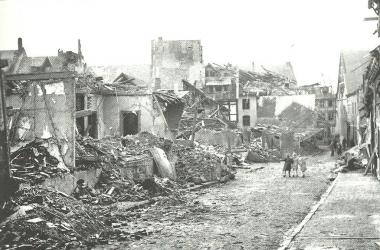 Bombenschäden in der Großen Schenkstraße - Dieter Oemler