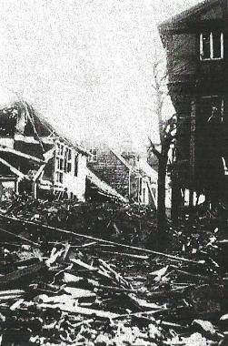 Bombenschäden in der Innenstadt nach dem Angriff vom 22. Februar 1944 - Dieter Oemler