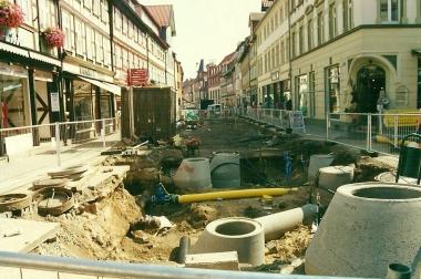 Neugestaltung der Fußgängerzone 2002 © Wolfgang Grothe